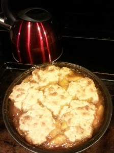 Peach Cobbler Finished Product