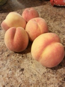 Fresh Peaches from the Tree